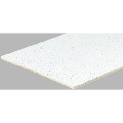 Radar Fissured 2 Ft. x 2 Ft. White Mineral Fiber Square Edge Suspended Ceiling Tile (16-Count)