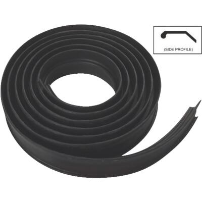 National Garage Door 10 Ft. Black Vinyl Weatherstripping For Wood Door