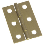 National 1-3/8 In. x 2 In. Antique Brass Hinge (2-Pack) Image 1