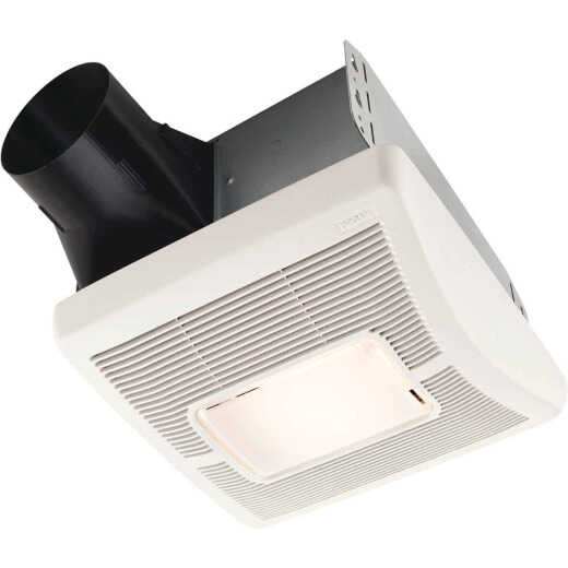 Broan Flex Series 50 CFM 1.5 Sones 120V Bath Exhaust Fan with Light