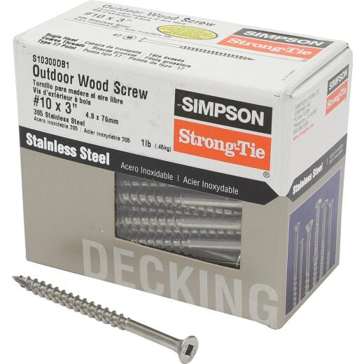 Simpson Strong-Tie #10 x 3 In. Stainless Steel Bugle Head Deck Screw (1 Lb. Box)